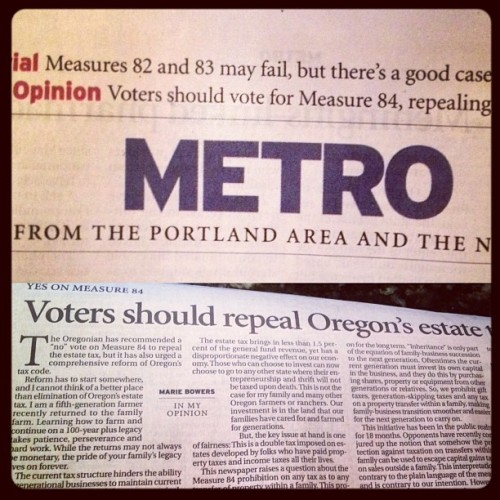 My Op-Ed in the Oregonian