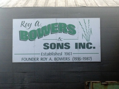 Roy A. Bowers & Sons is the name of our warehouse.  Roy was my great-grandpa. :)